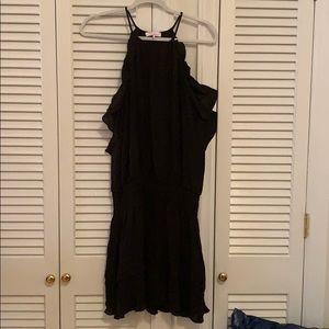 Silk Tank Dress with Gathered Waist Sz. M